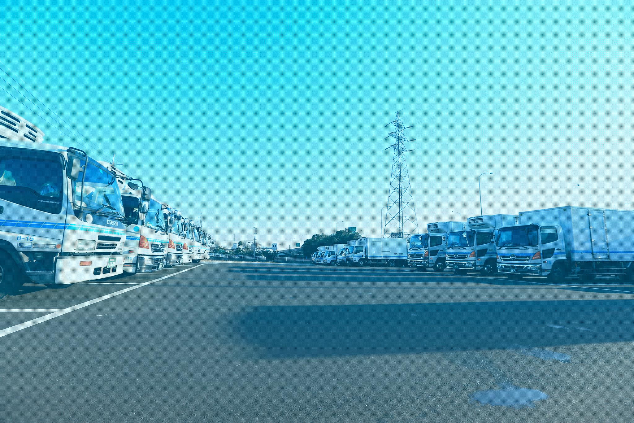 130台のトラックを配備